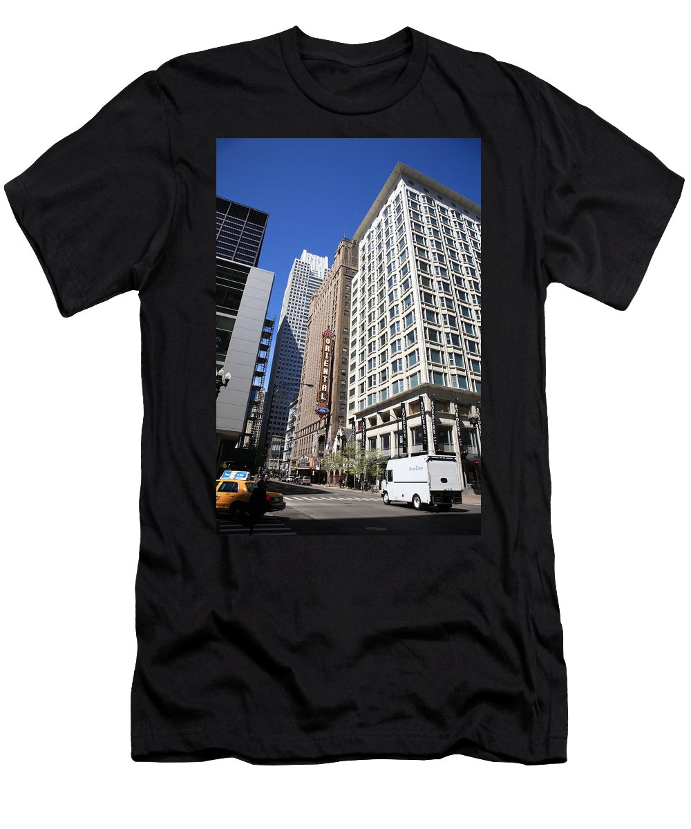America Men's T-Shirt (Athletic Fit) featuring the photograph Chicago Downtown by Frank Romeo