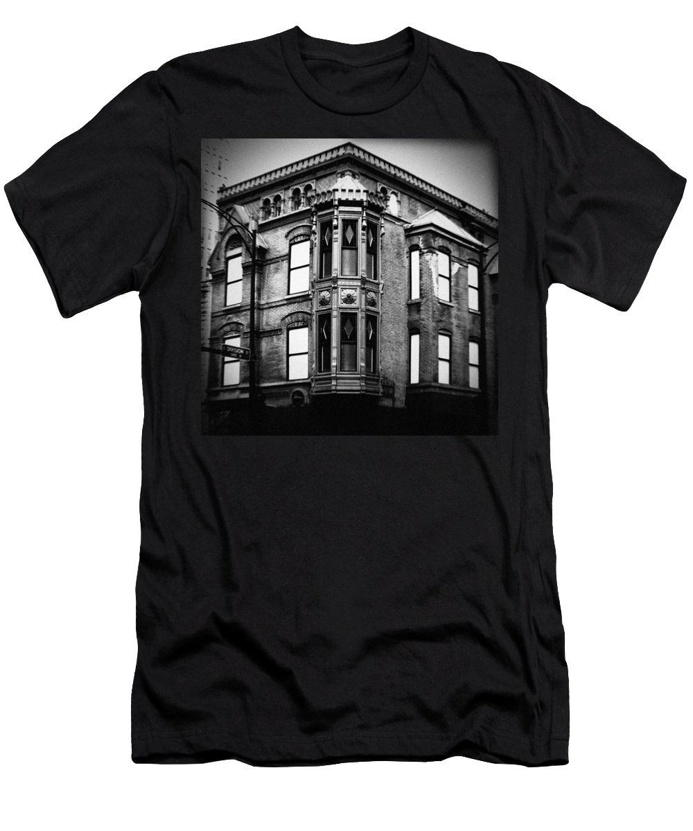 Chicago Men's T-Shirt (Athletic Fit) featuring the photograph Chicago Historic Corner by Kyle Hanson