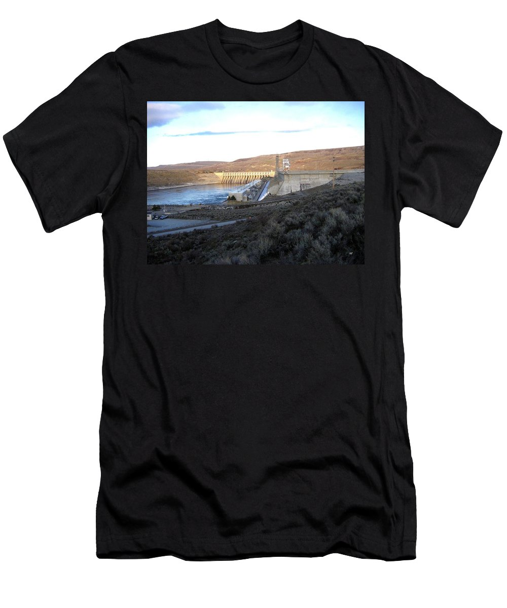 Chief Joseph Dam Men's T-Shirt (Athletic Fit) featuring the photograph Chief Joseph Dam by Will Borden