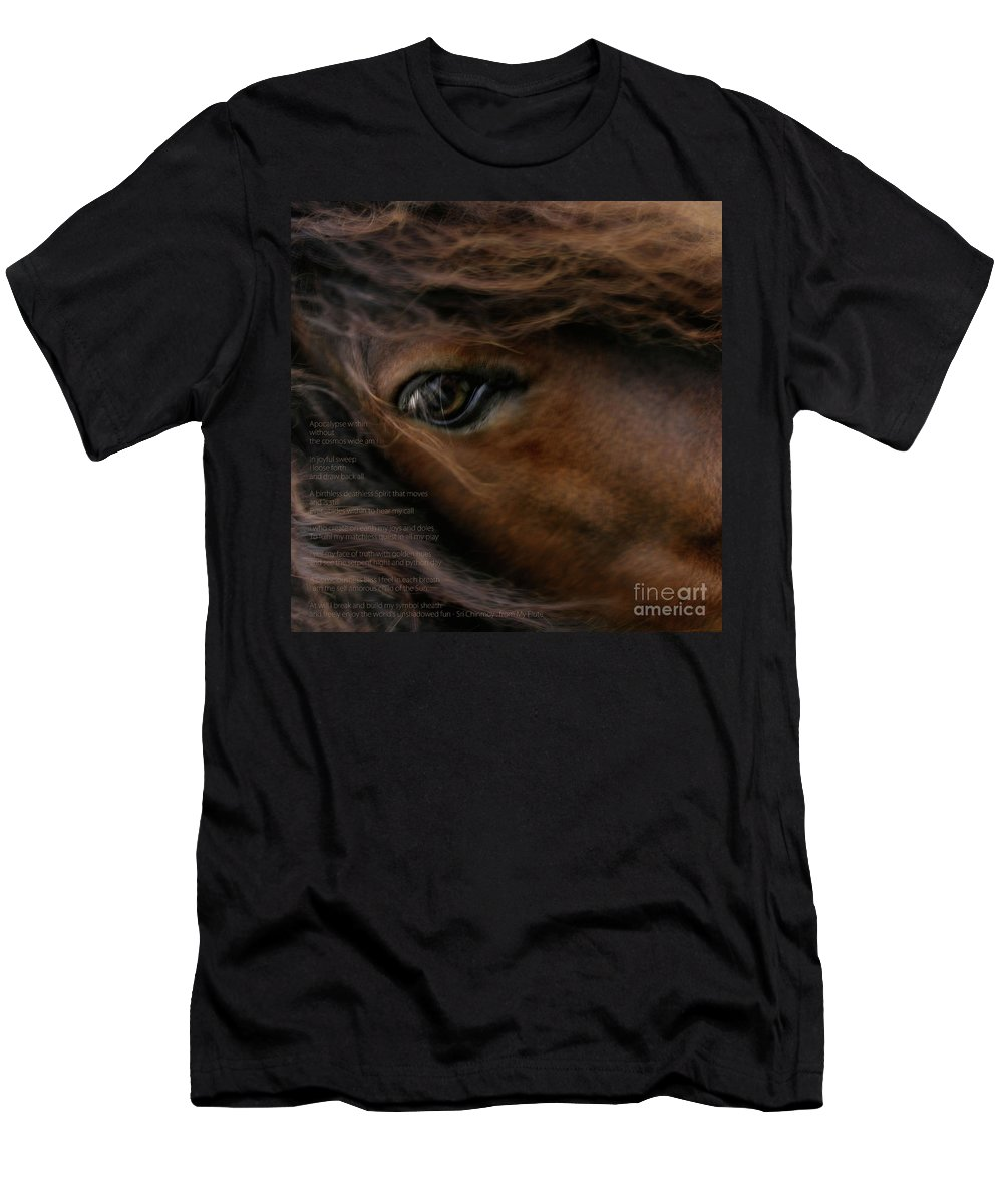 Child Of The Sun Men's T-Shirt (Athletic Fit) featuring the photograph Child Of The Sun by Sharon Mau