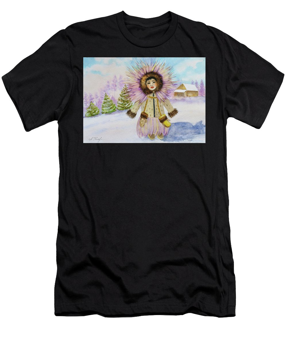 The Children Of The North Men's T-Shirt (Athletic Fit) featuring the painting children of the North by Alla Kolerskaya