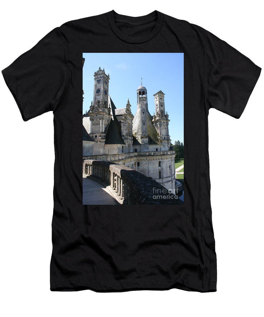 Chimney Men's T-Shirt (Athletic Fit) featuring the photograph Chimney From Chambord - Loire by Christiane Schulze Art And Photography
