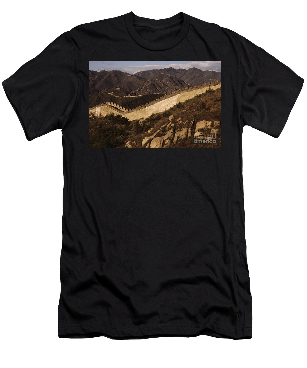 Afternoon Men's T-Shirt (Athletic Fit) featuring the photograph China, Mu Tian Yu by Larry Dale Gordon - Printscapes