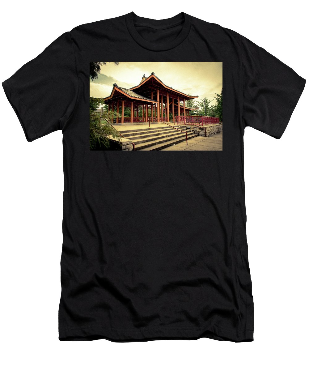 Chicago Men's T-Shirt (Athletic Fit) featuring the photograph Chinese Bagota In Chicago's Chinatown by Anthony Doudt