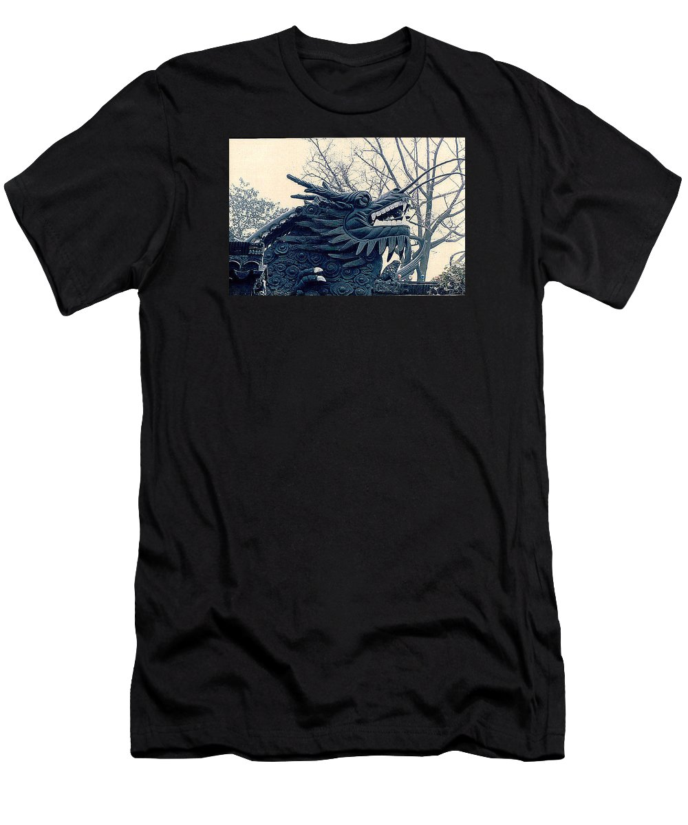 China Men's T-Shirt (Athletic Fit) featuring the photograph Chinese Dragon by Maro Kentros