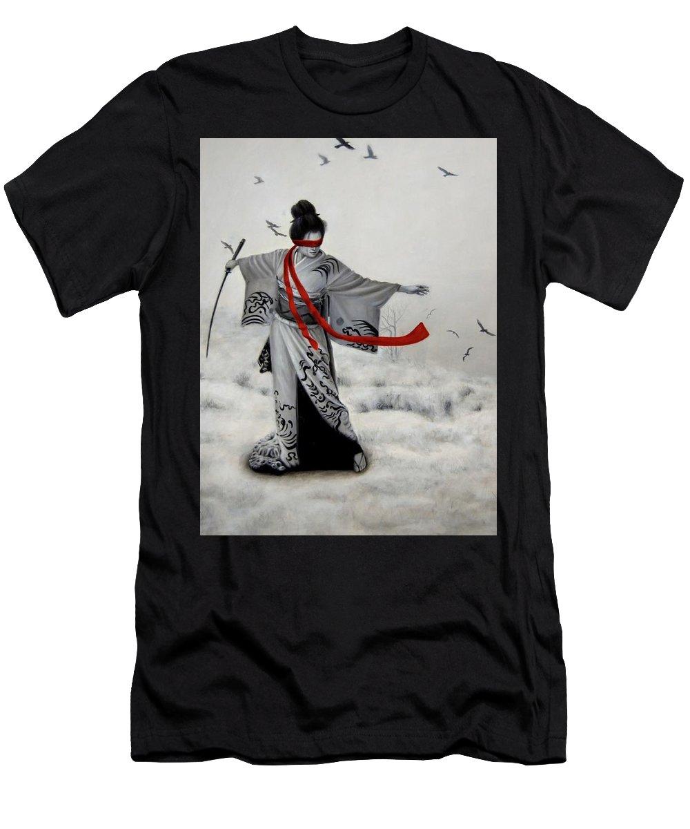 Women Men's T-Shirt (Athletic Fit) featuring the painting Chio Chio San by Nataliya Bagatskaya
