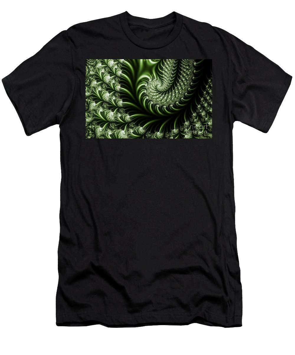 Clay Men's T-Shirt (Athletic Fit) featuring the digital art Chlorophyll by Clayton Bruster