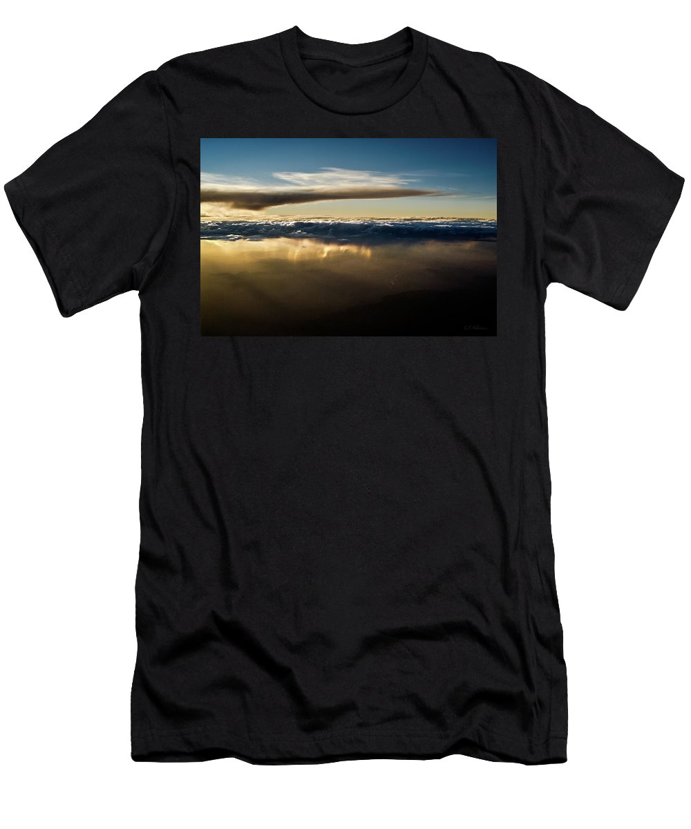 Clouds Men's T-Shirt (Athletic Fit) featuring the photograph Chocolate Below by Christopher Holmes
