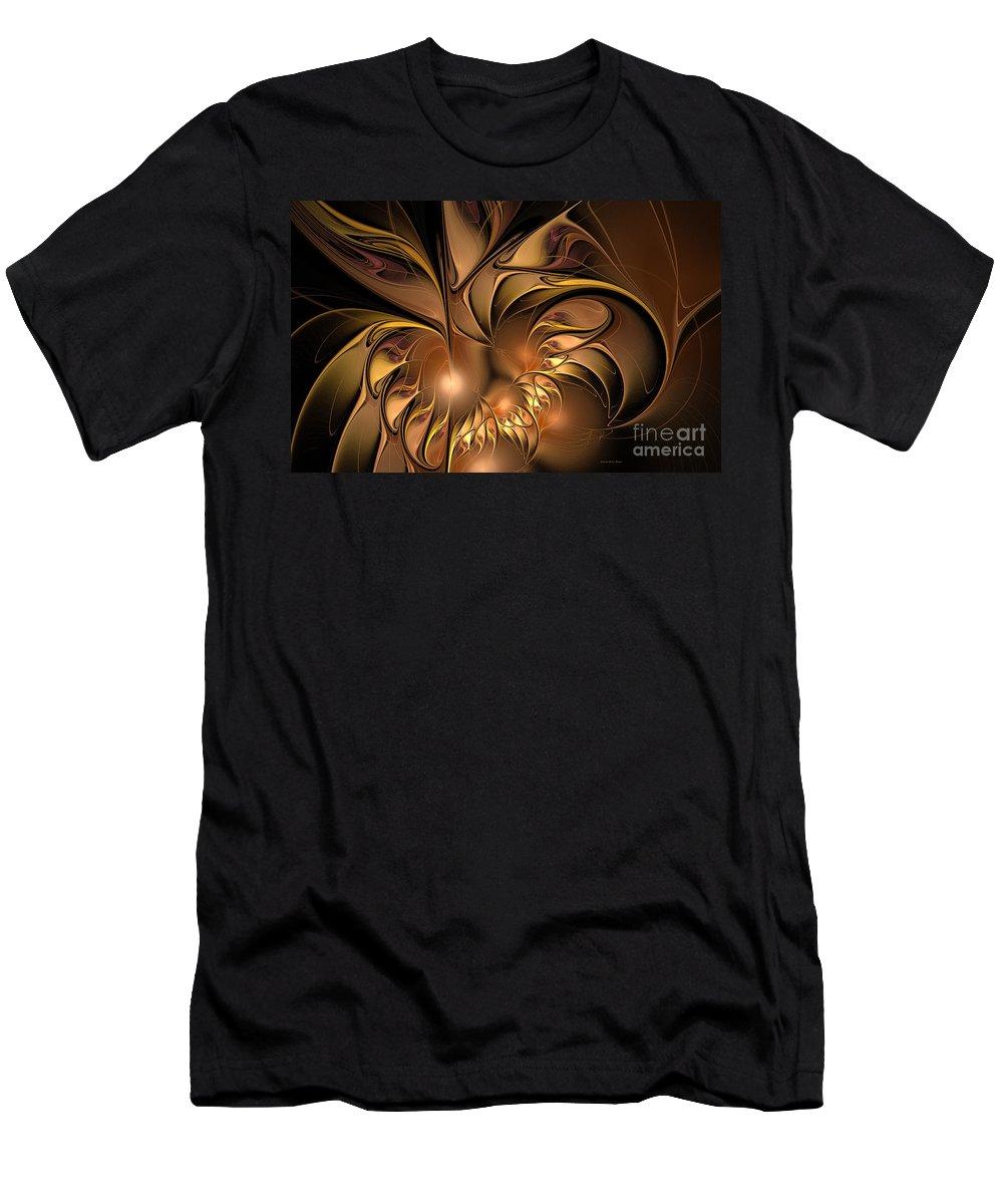 Digital Men's T-Shirt (Athletic Fit) featuring the digital art Chocolate Essence by Deborah Benoit