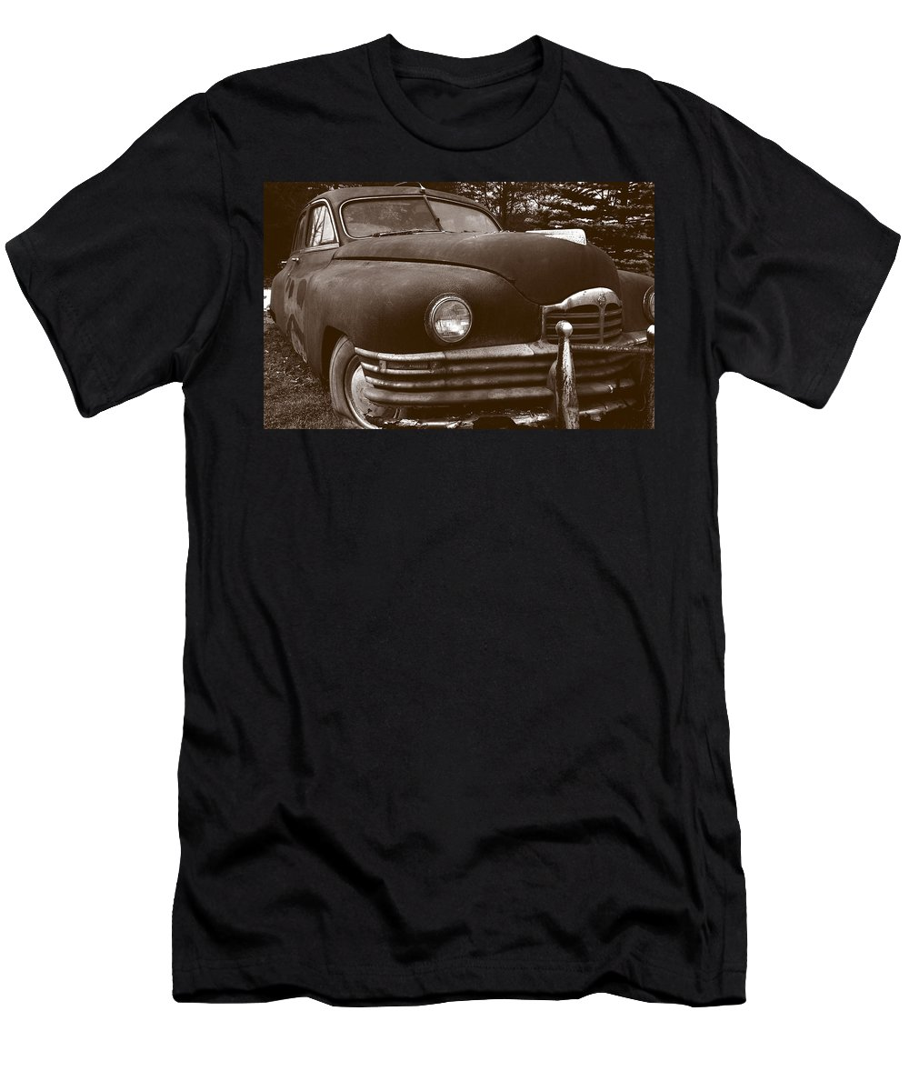 Old Car T-Shirt featuring the photograph Chocolate Moose by Jean Macaluso