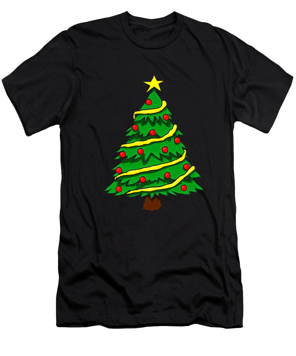 Christmas Tree Men's T-Shirt (Athletic Fit) featuring the digital art Christmas by Dominic Fransisce