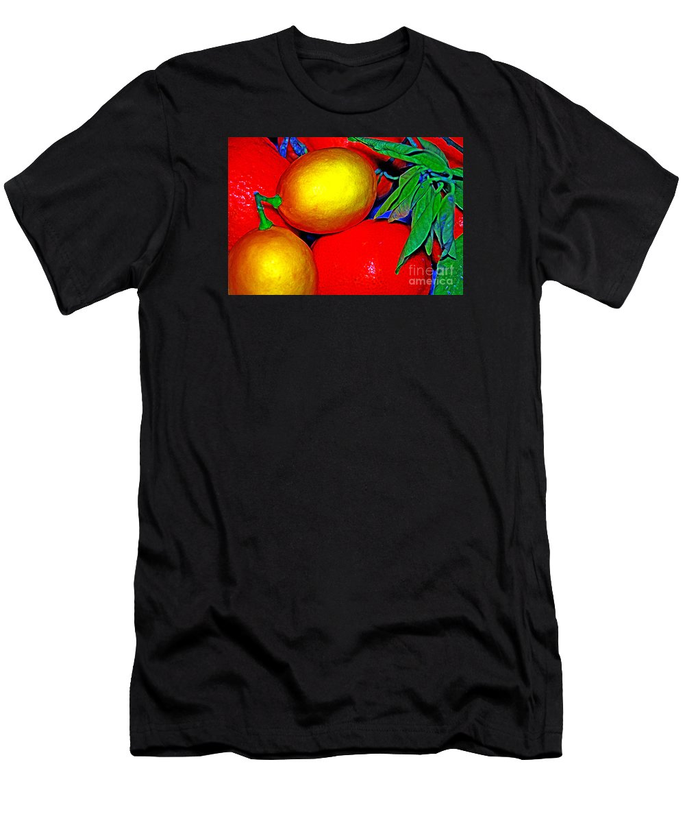 Christmas Men's T-Shirt (Athletic Fit) featuring the photograph Christmas Fruit by Sue Swanezy