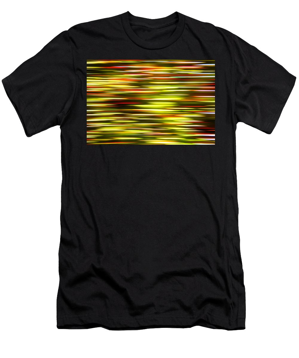 Abstract Men's T-Shirt (Athletic Fit) featuring the photograph Christmas Lights Pan by Pam Elliott