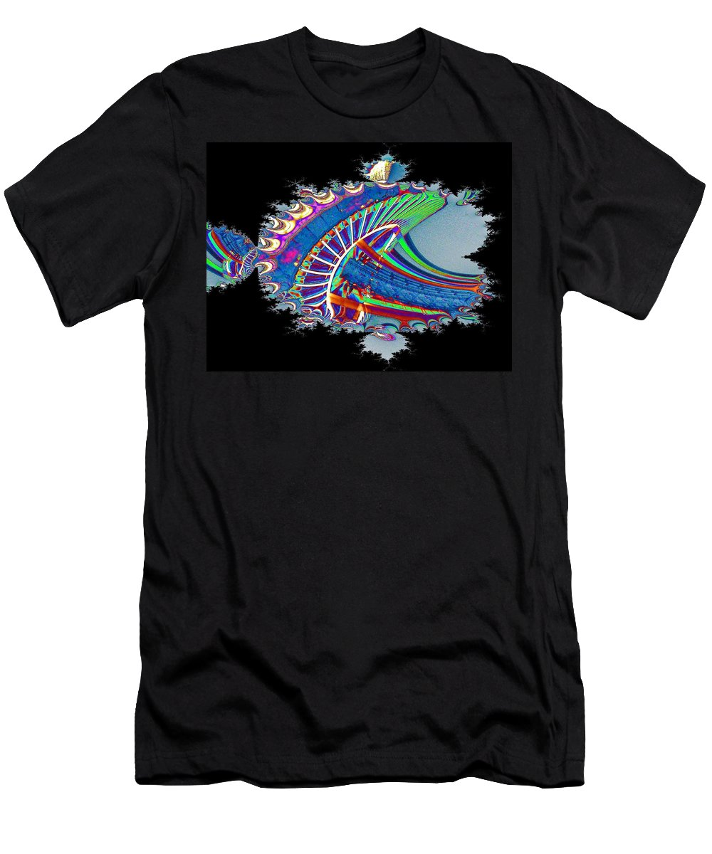 Seattle Men's T-Shirt (Athletic Fit) featuring the digital art Christmas Needle In Fractal by Tim Allen