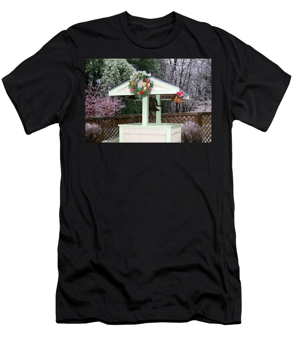 Photography Men's T-Shirt (Athletic Fit) featuring the photograph Christmas Wish by Barbara S Nickerson