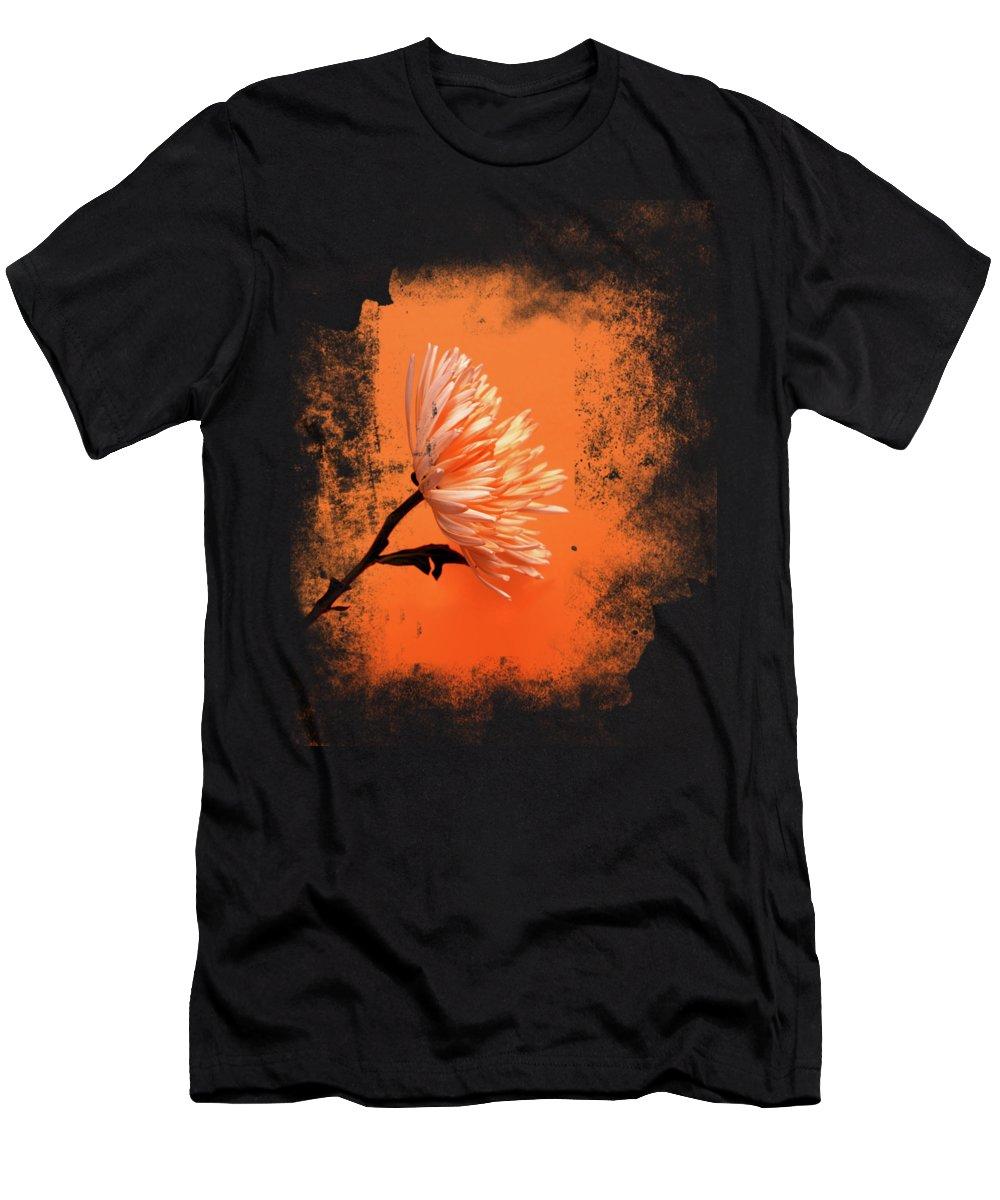 Chrysanthemum T-Shirt featuring the photograph Chrysanthemum Orange by Mark Rogan