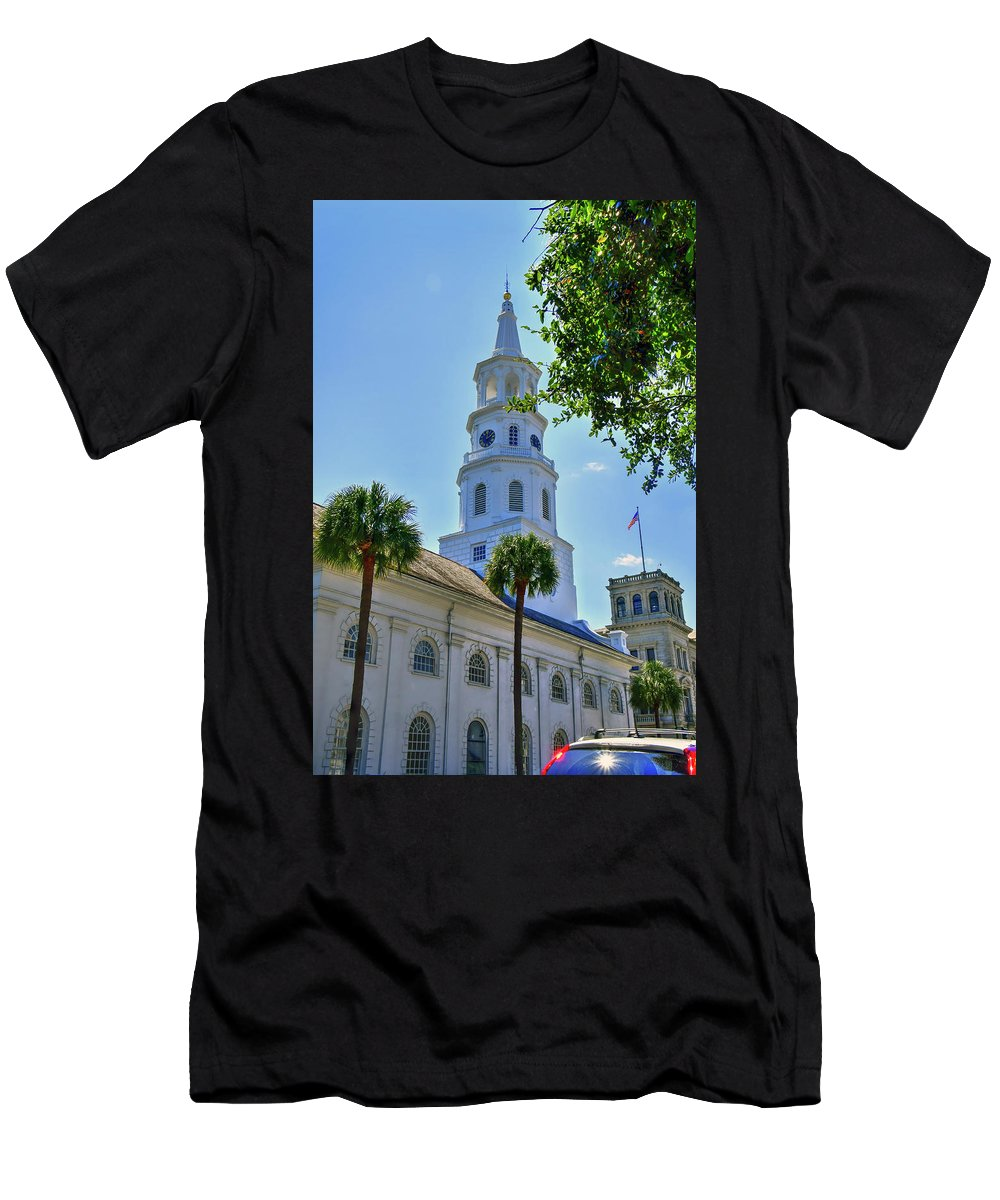 Church Men's T-Shirt (Athletic Fit) featuring the photograph Church In Charleston by TJ Baccari