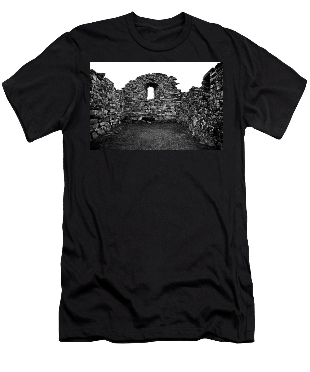 Greenland Men's T-Shirt (Athletic Fit) featuring the photograph Church Ruins Hvalsey by Juergen Weiss