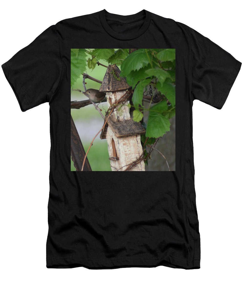 Wren Men's T-Shirt (Athletic Fit) featuring the photograph Church Time by Shutter Print