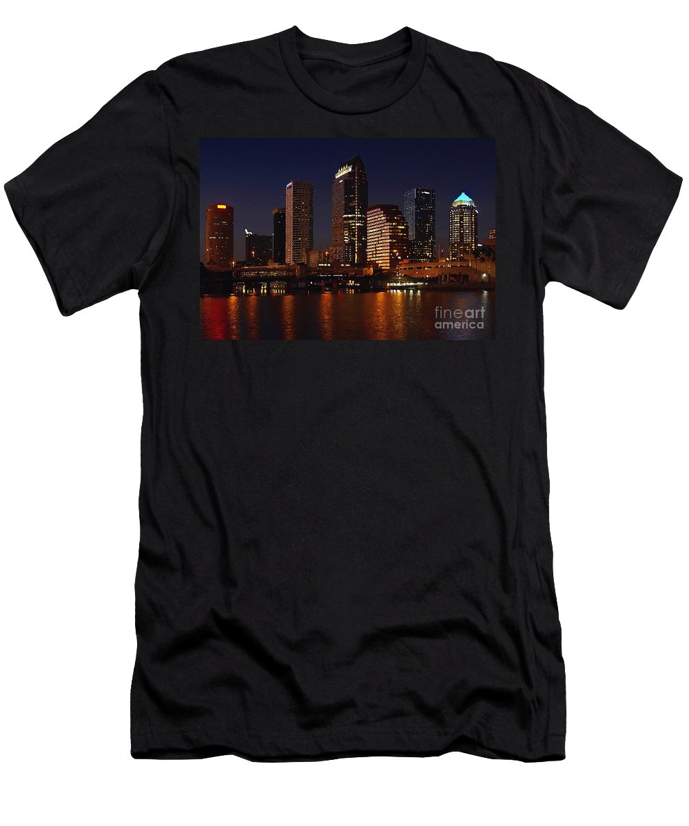 Tampa Florida Men's T-Shirt (Athletic Fit) featuring the photograph Cigar City by David Lee Thompson
