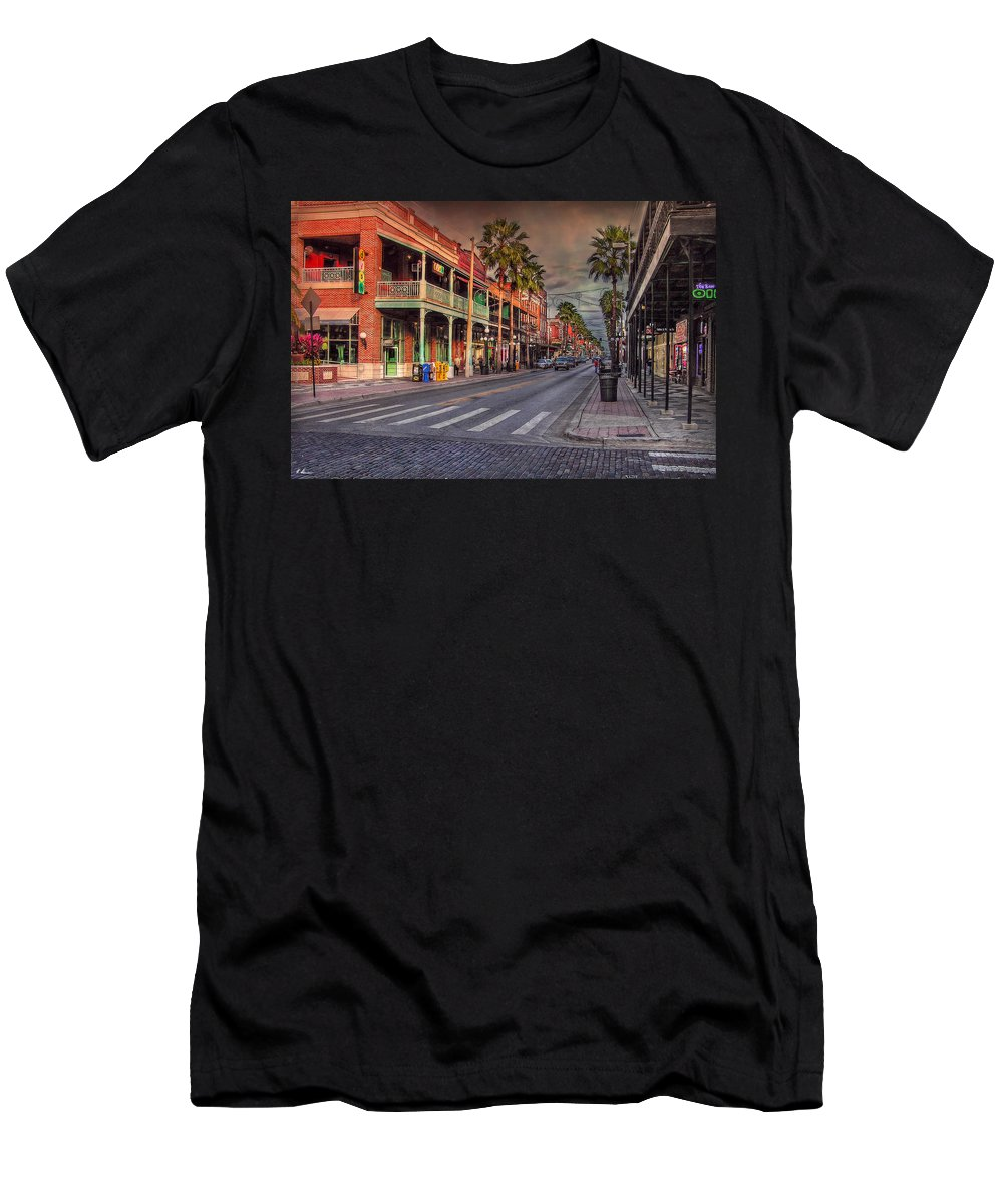 Ybor City Men's T-Shirt (Athletic Fit) featuring the photograph Cigar City by Hanny Heim