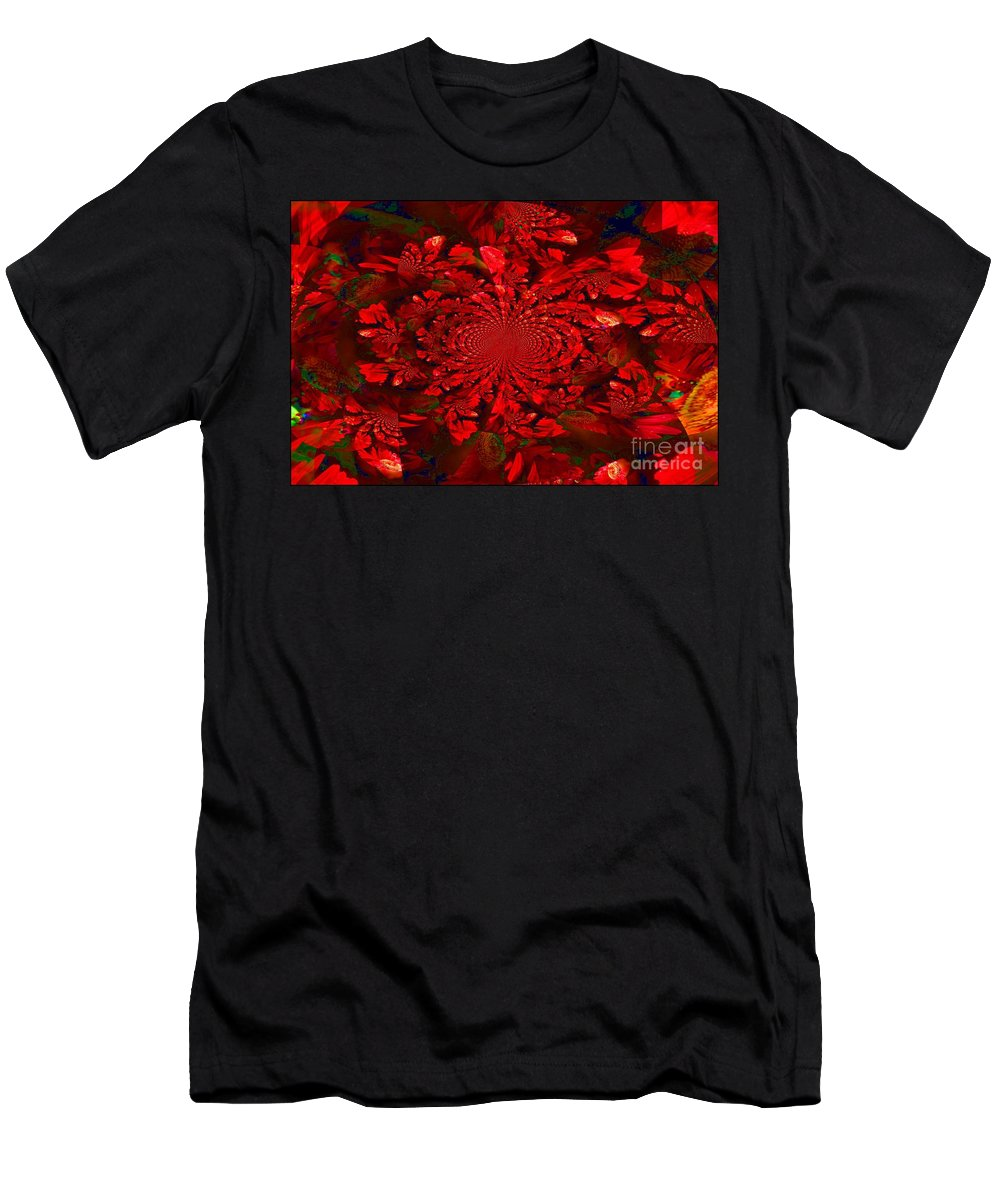 Abstract Art Men's T-Shirt (Athletic Fit) featuring the photograph Cinnamon Candy by Donna Bentley