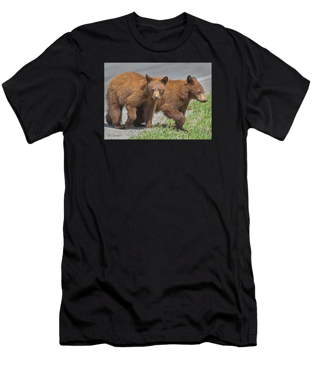 Animals Men's T-Shirt (Athletic Fit) featuring the photograph Cinnamon Cubs by CR Courson