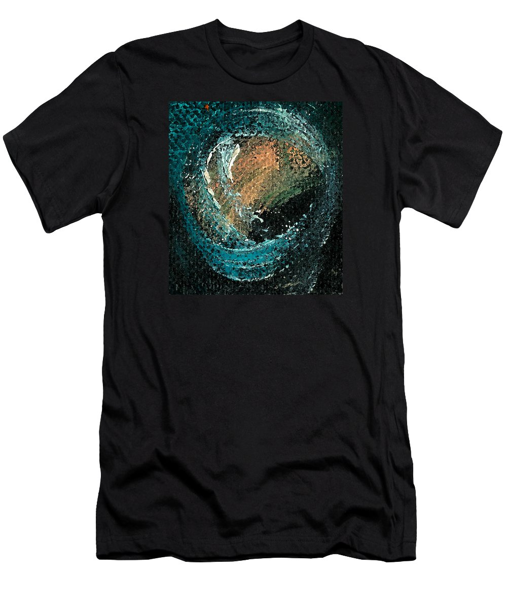 Circ Men's T-Shirt (Athletic Fit) featuring the painting Visitors Eye by Jorge Delara
