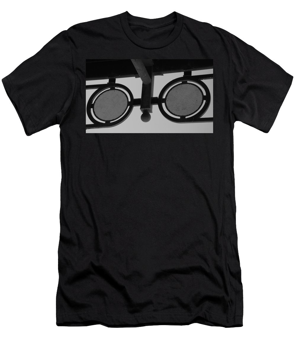 Black And White Men's T-Shirt (Athletic Fit) featuring the photograph Circle Bar I by Rob Hans