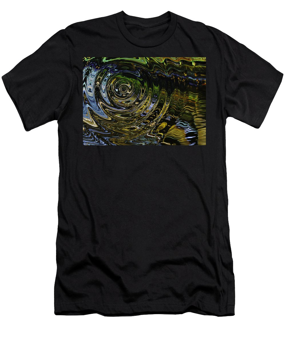 Abstract Men's T-Shirt (Athletic Fit) featuring the photograph Circles And Swirls by John M Bailey