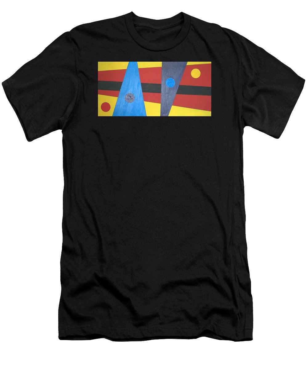 Abstract Art T-Shirt featuring the painting Circles Lines Color #3 by J R Seymour