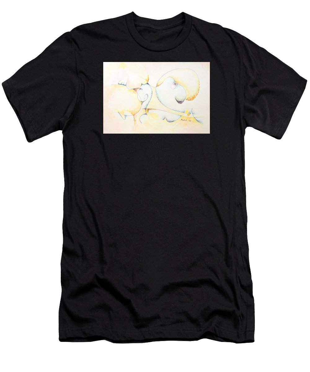 Men's T-Shirt (Athletic Fit) featuring the painting Circular Thoughts by Dave Martsolf