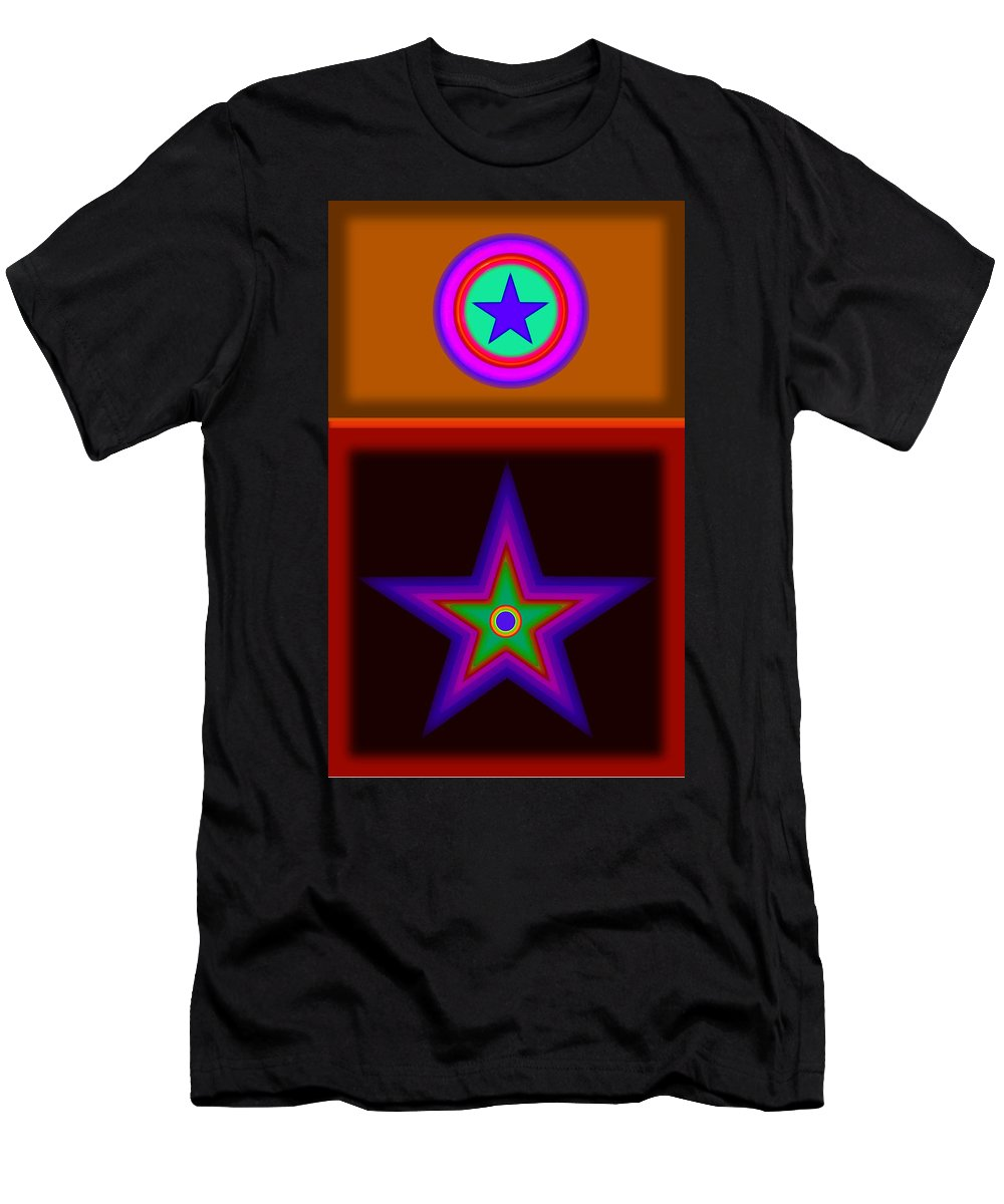 Classical Men's T-Shirt (Athletic Fit) featuring the digital art Circus Star by Charles Stuart