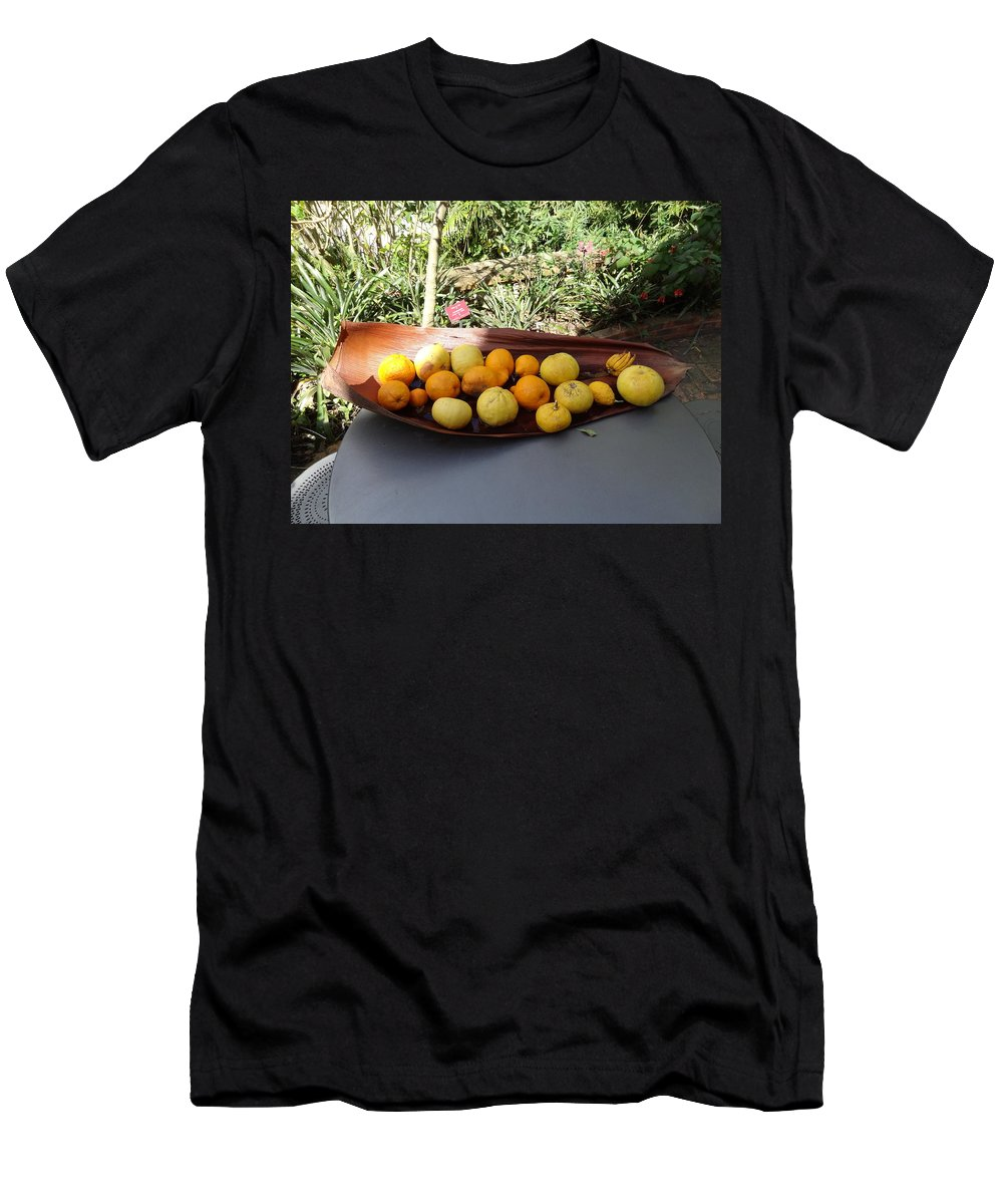 Men's T-Shirt (Athletic Fit) featuring the photograph Citrus Fruits by Andres Chauffour