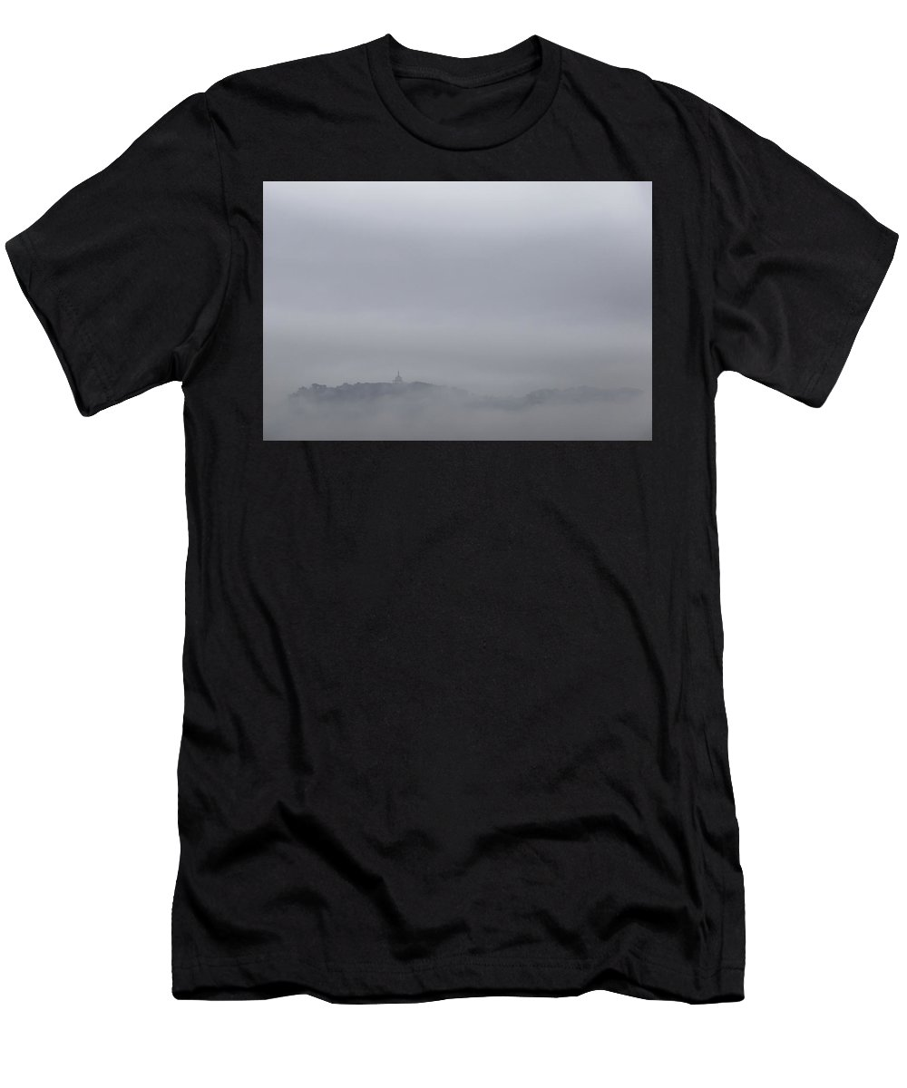 Landscape Men's T-Shirt (Athletic Fit) featuring the photograph City In The Sky 1 by Fabio Huchant