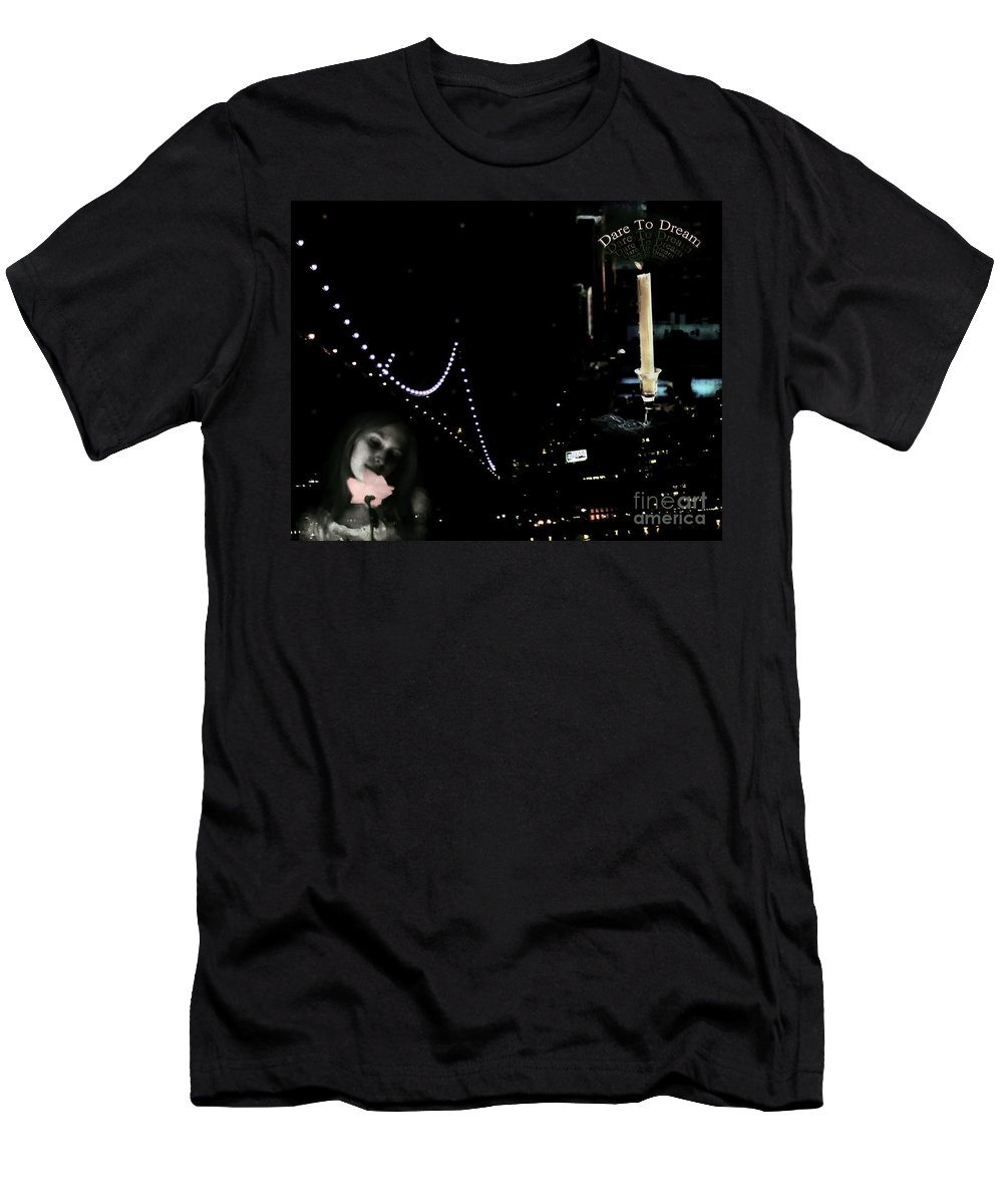 City Men's T-Shirt (Athletic Fit) featuring the photograph City Of Dreams by Madeline Ellis