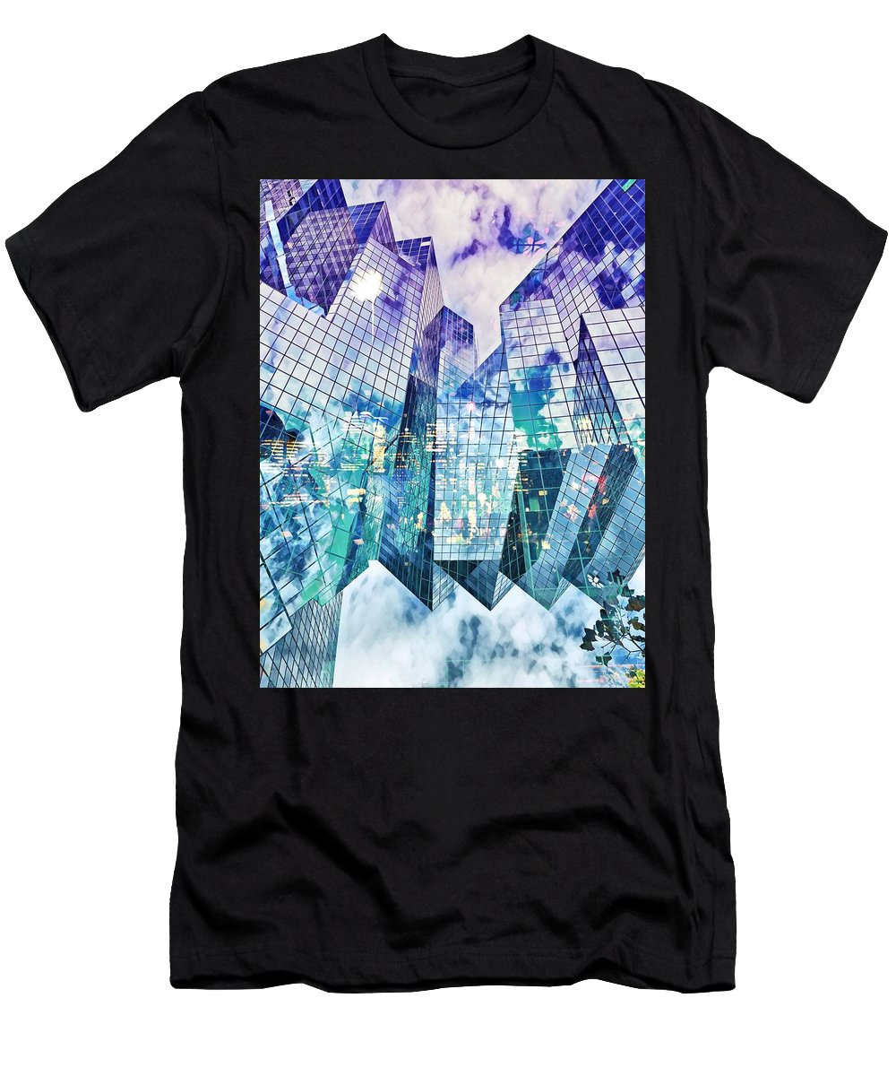 City Men's T-Shirt (Athletic Fit) featuring the digital art City Of Glass by Aiden Nettavong