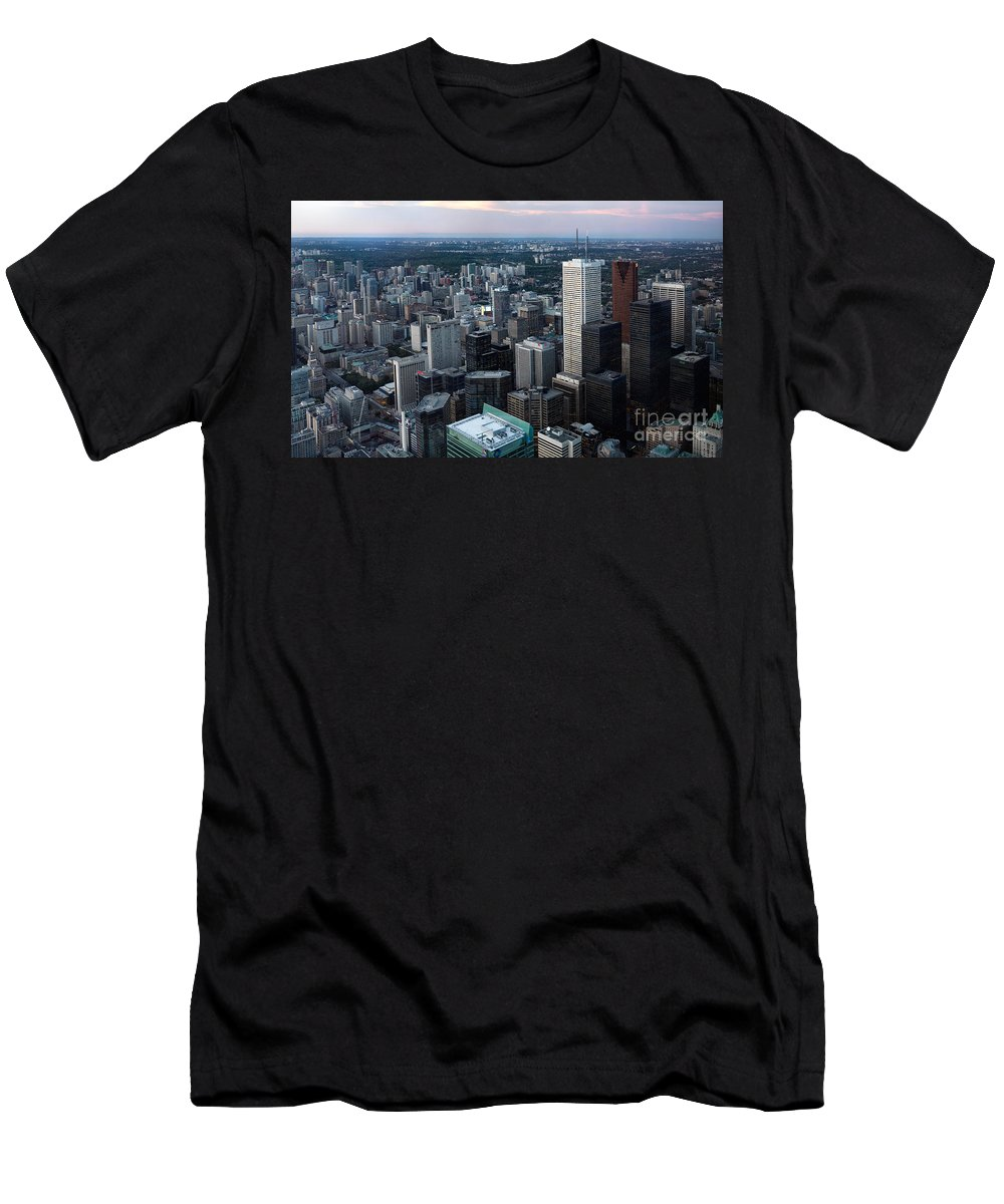 Toronto Men's T-Shirt (Athletic Fit) featuring the photograph City Of Toronto Downtown by Oleksiy Maksymenko