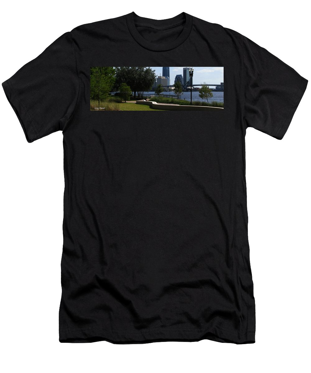 Art For The Wall...patzer Photography Men's T-Shirt (Athletic Fit) featuring the photograph City Way by Greg Patzer