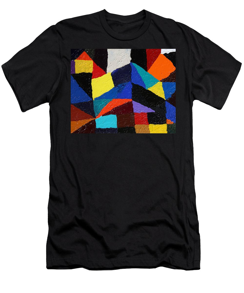 Fusionart Men's T-Shirt (Athletic Fit) featuring the painting Cityscape by Ralph White