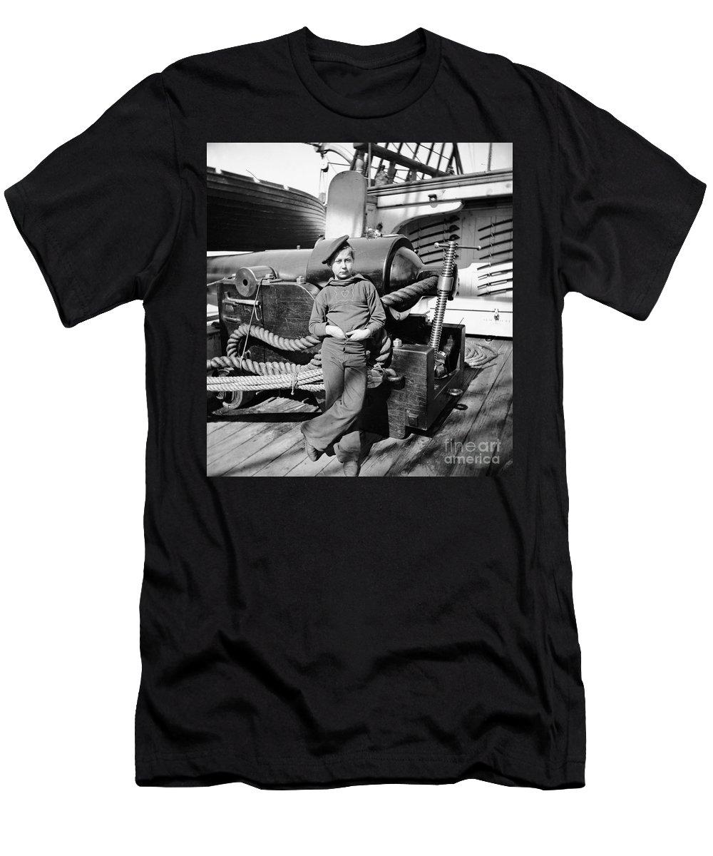 1864 Men's T-Shirt (Athletic Fit) featuring the photograph Civil War: Powder Monkey by Granger