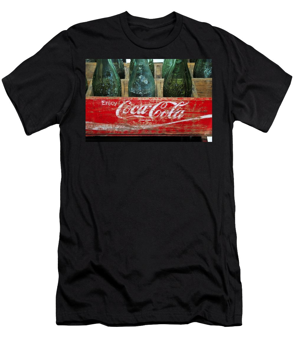 Fine Art Photography Men's T-Shirt (Athletic Fit) featuring the photograph Classic Coke by David Lee Thompson