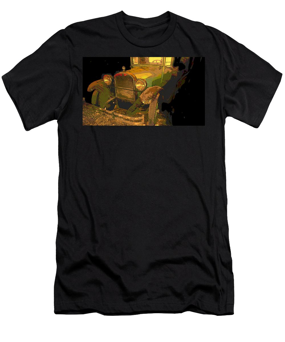 Automobile Men's T-Shirt (Athletic Fit) featuring the digital art Classic Lines by Jim Thomas