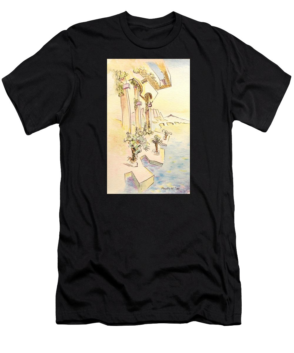 Italian Men's T-Shirt (Athletic Fit) featuring the painting Classic Summer Morning by Dave Martsolf