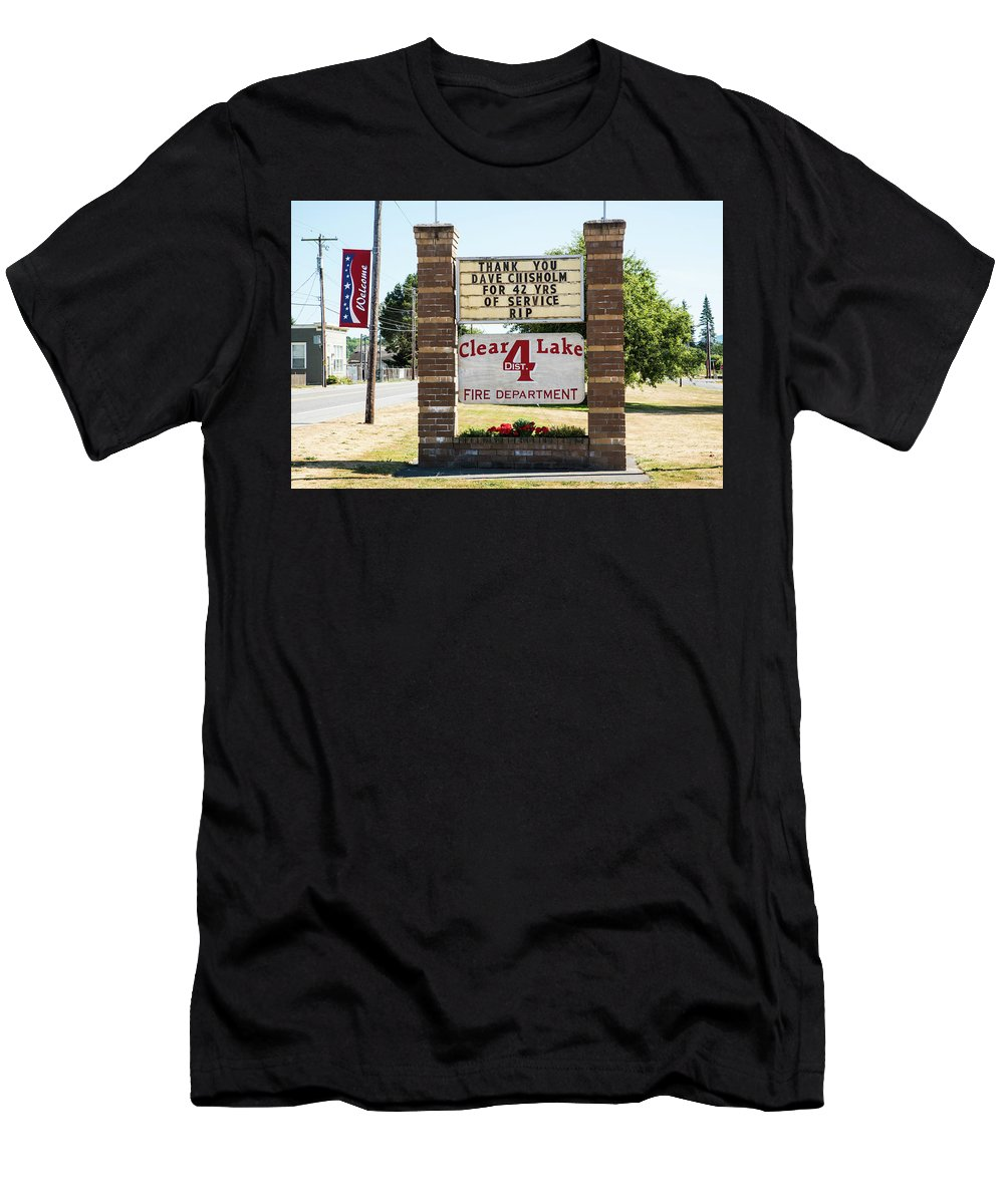 Volunteer Men's T-Shirt (Athletic Fit) featuring the photograph Clear Lake Fire Department by Tom Cochran