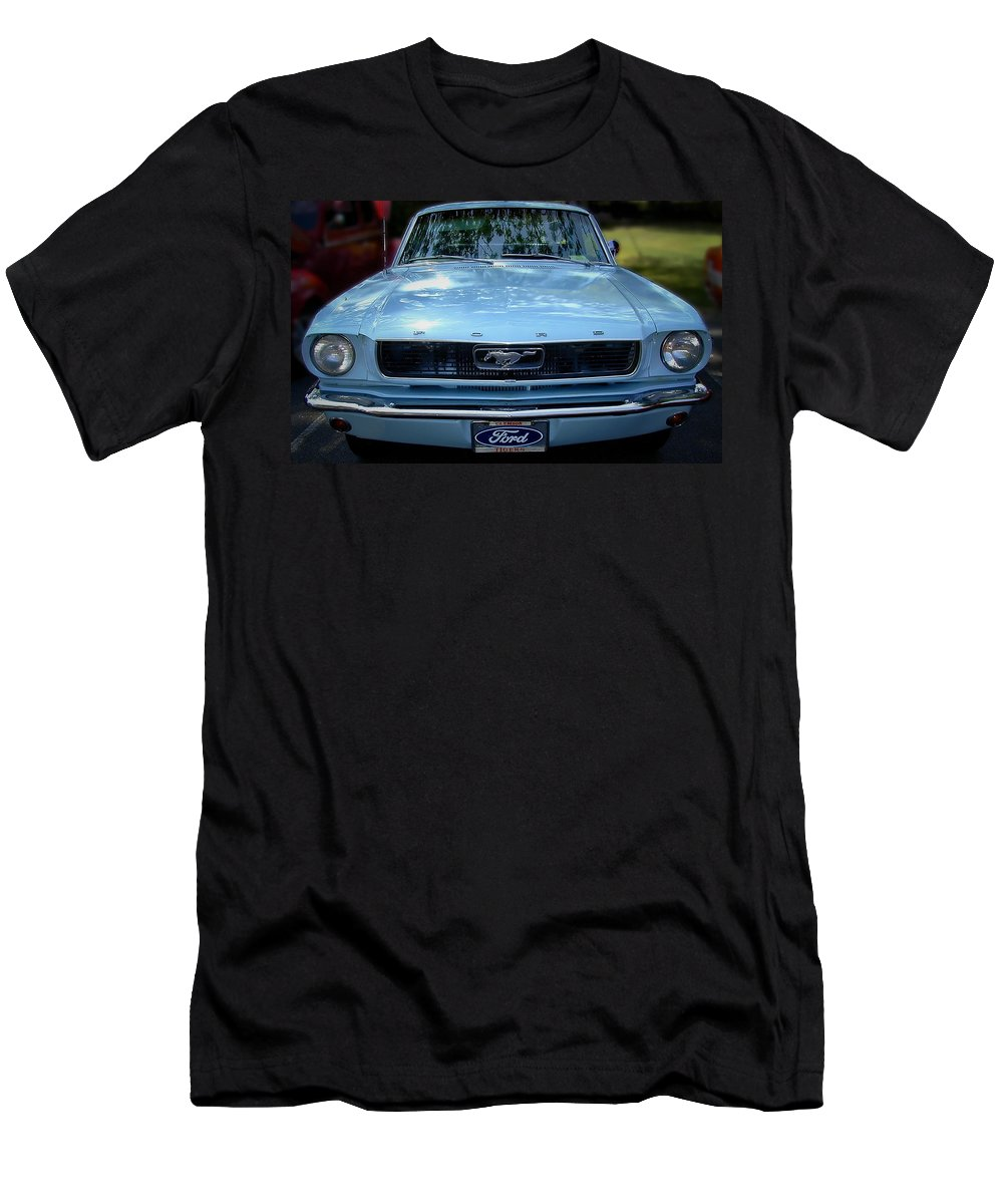 Classic Men's T-Shirt (Athletic Fit) featuring the photograph Clemson Tigers Ford Mustang by Gary Adkins