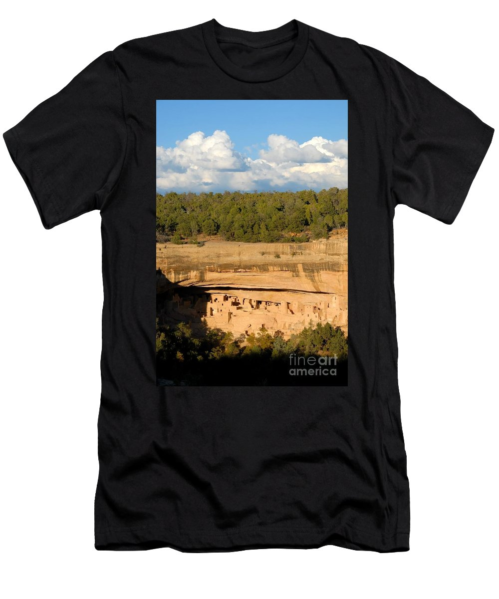 Cliff Palace Men's T-Shirt (Athletic Fit) featuring the photograph Cliff Palace Landscape by David Lee Thompson
