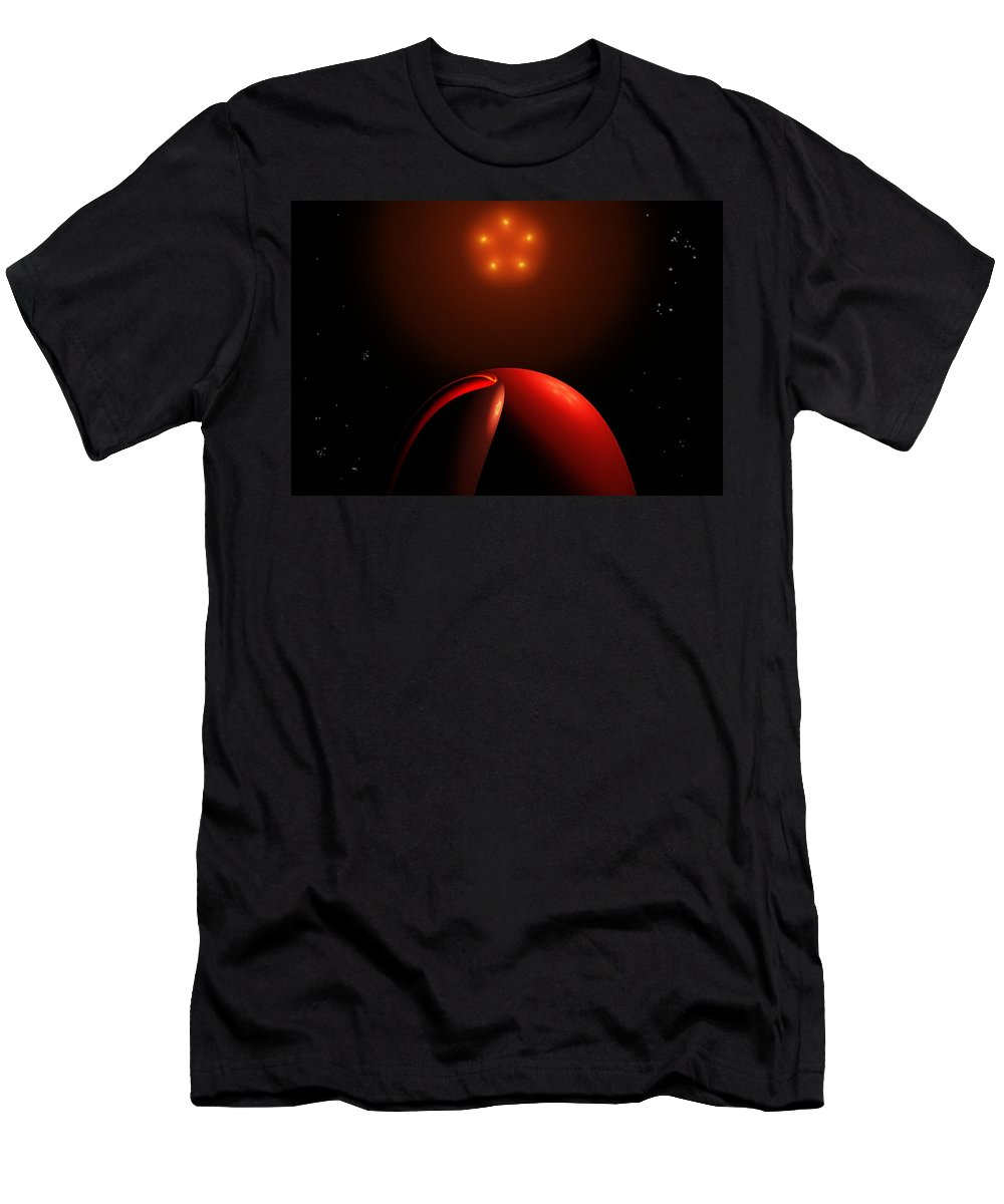 Abstract Men's T-Shirt (Athletic Fit) featuring the digital art Close Encounters II by David Lane