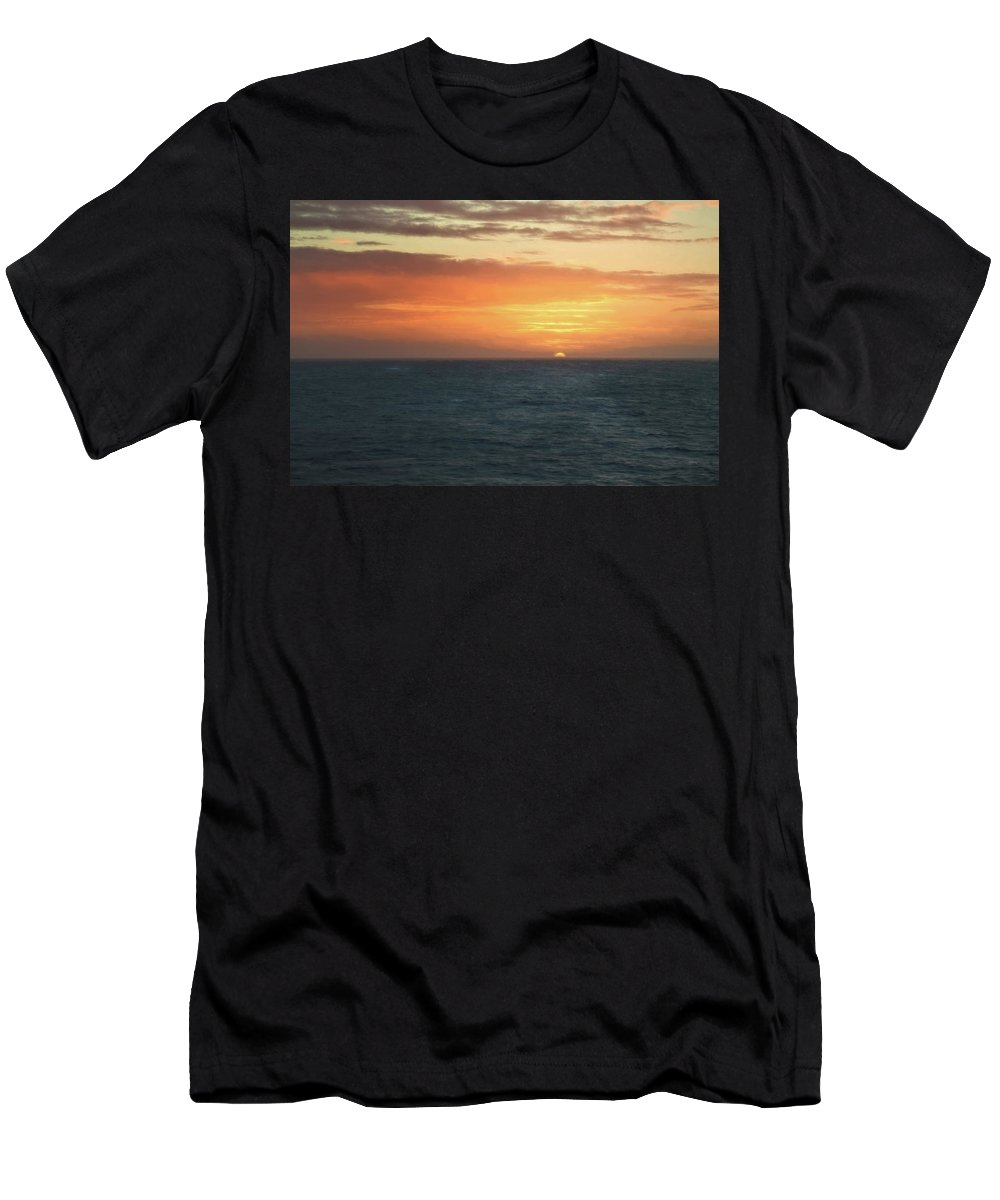 Sky Men's T-Shirt (Athletic Fit) featuring the photograph Close Of Day by John M Bailey