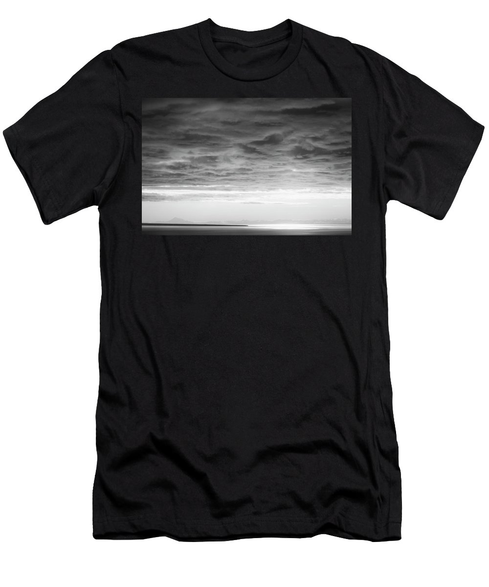 Black And White Men's T-Shirt (Athletic Fit) featuring the photograph Cloud Cover by Savanah Plank